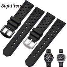 Correa de reloj de Gel de silicona para TAG_Heuer WAZ2113, correa de reloj de goma perforada, correas de silicona, pulseras impermeables para hombres