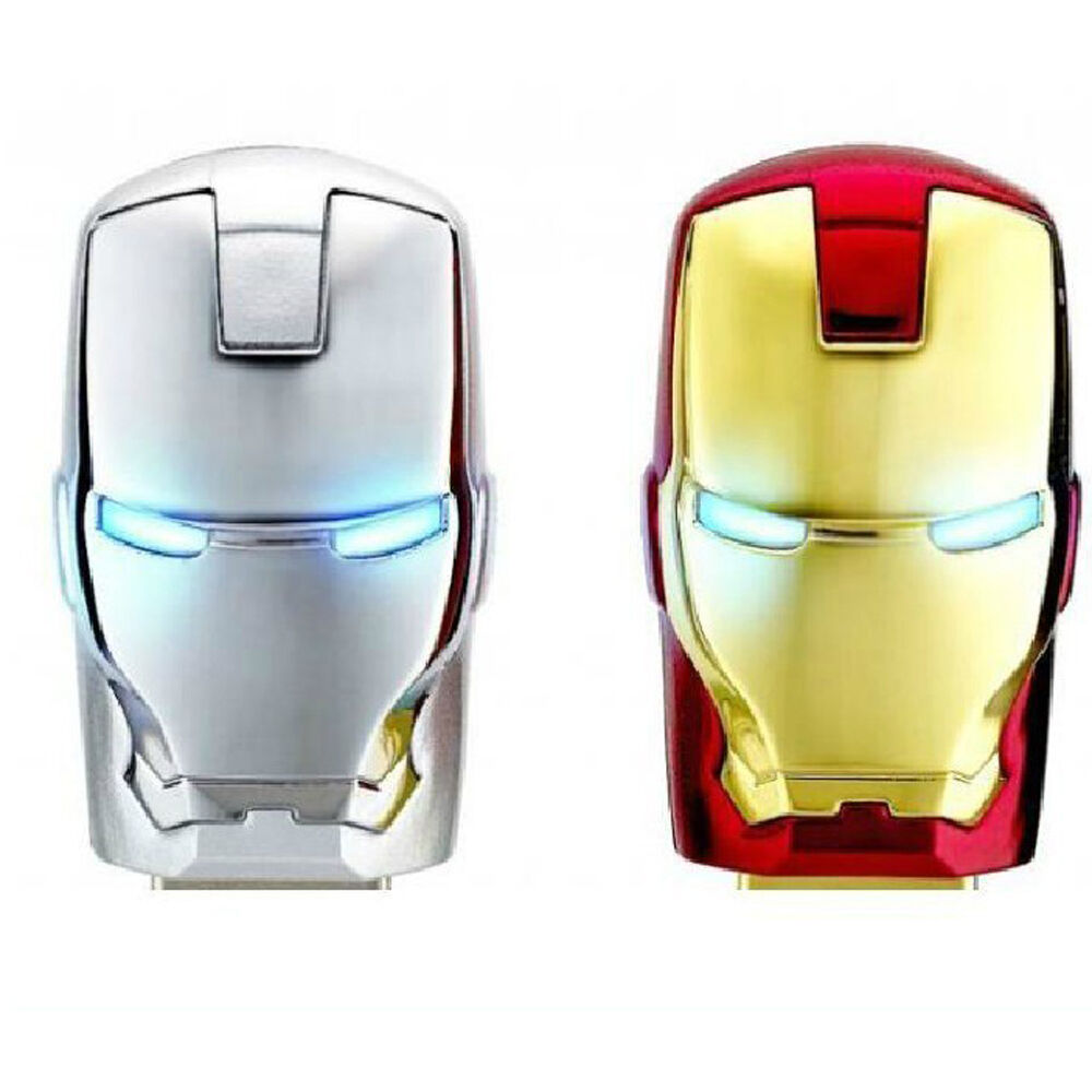 TOPESEL 5PCS USB2.0 For Avengers Iron Man Flash Memory Stick Drive Pen Thumb Disk Gift