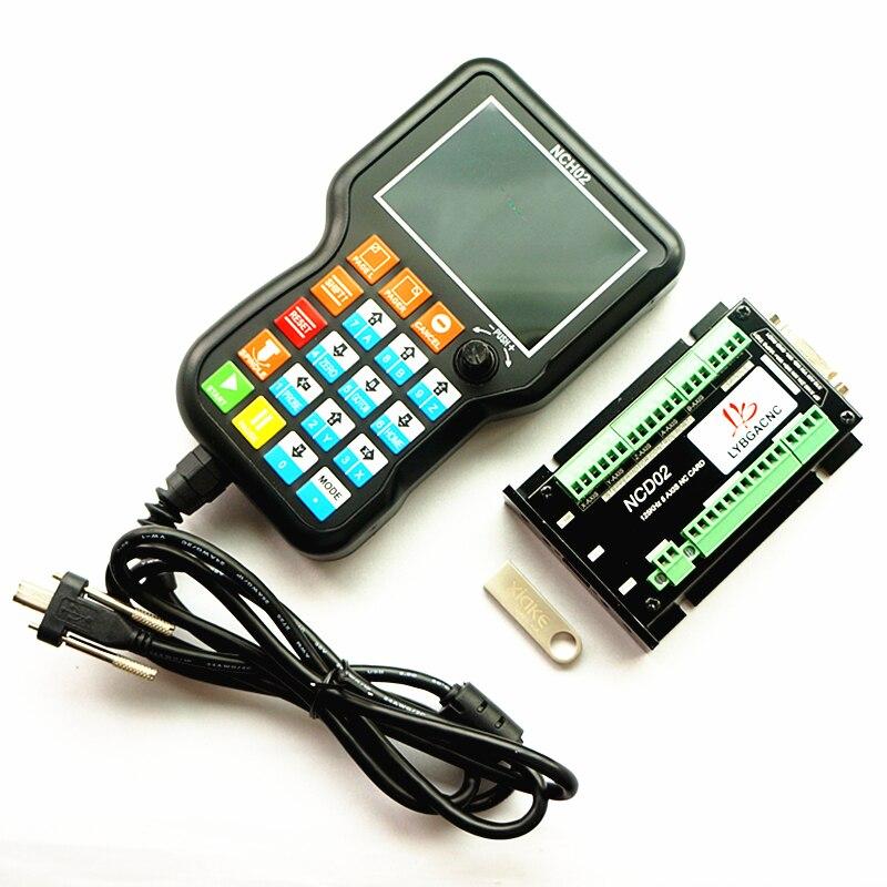 NCH02 NCD02 3/4/5 Axis USB CNC, placa de movimiento Manual DSP, controlador CNC Manual, controlador de sistema fuera de línea de código G para CNC DIY