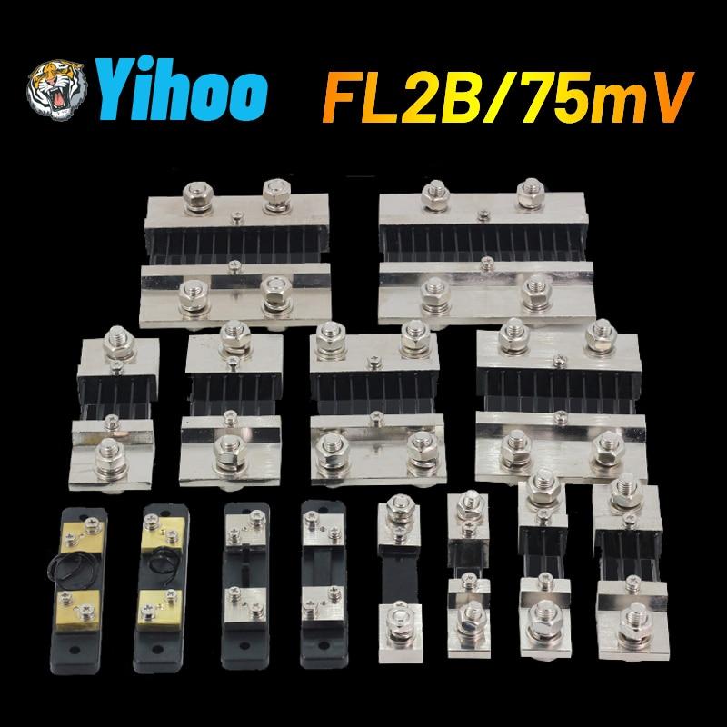 10A 15A 20A 30A 40A 50A 75A 100A 75мв 0,5 класс FL-2B Manganin медный DC шунтирующий измерительный шунтирующий резистор