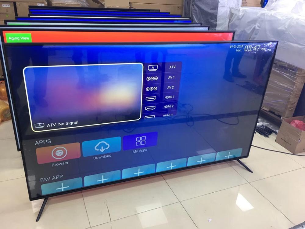 chine usine pas cher ecran plat televiseurs 75 pouces plusieurs langues wifi smart tv android lcd led tv 4k television