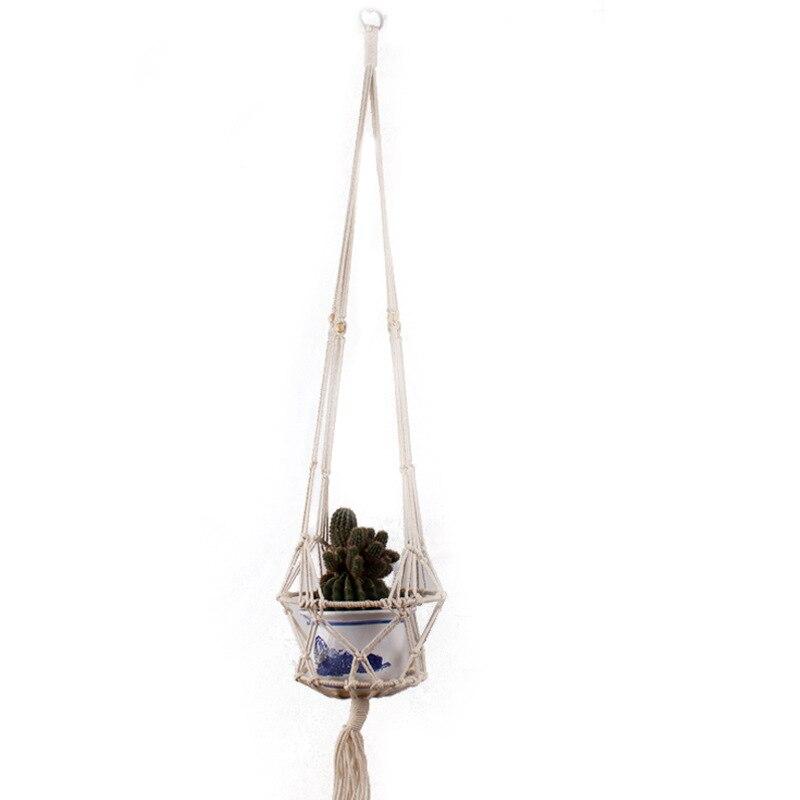 Cesta de flor hecha a mano Vid verde maceta jardinera colgante jarrón contenedor de pared cesta para plantas para jardín ab5603