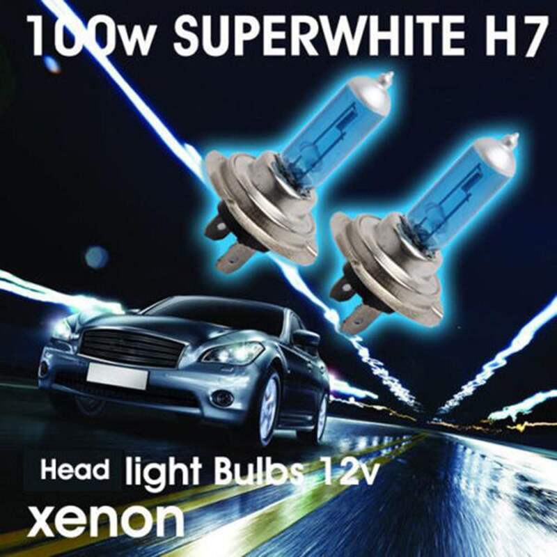 2 шт. H7 6000K ксенона Галогенные лампы головного светильник белый автомобильный Светильник лампы автомобильные лампы для фар машины Светильни...