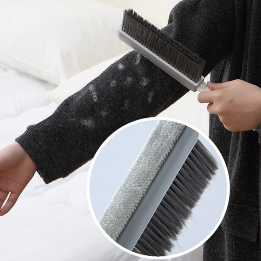 Handle Bed Brush Soft Fur Bedroom Dusting Brush Quilt Sofa Carpet Cleaning Brush Household Sweeping Bed Brush Home Accessories