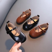 autumn girls casual leather shoes princess soft soled leather shoes peas shoes children shoes