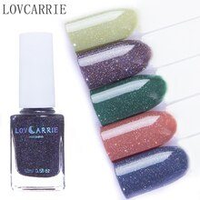 Lovcarrie 12 ml roxo arco-íris unha polonês perfeito floco vernizes híbridos esmalte para um esmaltes laca lak pintura polir conjunto