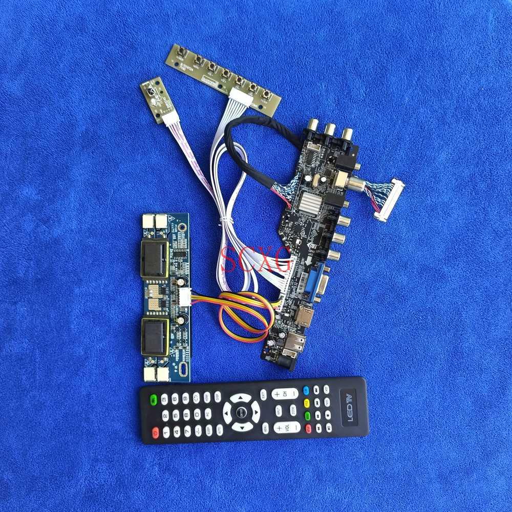 لوحة تحكم تناسب CLAA190EA03/CLAA190EA05/FLC48SXC8V HDMI متوافقة مع USB AV VGA لوحة LVDS 30 دبوس 4-ccfl عدة DVB الرقمية 1280*1024