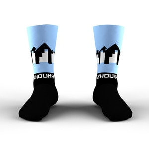 Zhouka Professional Outdoor Athletic Socks Comfortable And Breathable Unisex Cycling Socks