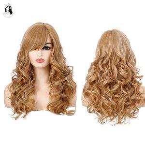 Дэн Бо синтетического волокна светильник золотой парик, волнистые, средней длины, парик, подходит для черного цвета в африканском стиле на высоком каблуке; Белые женские туфли