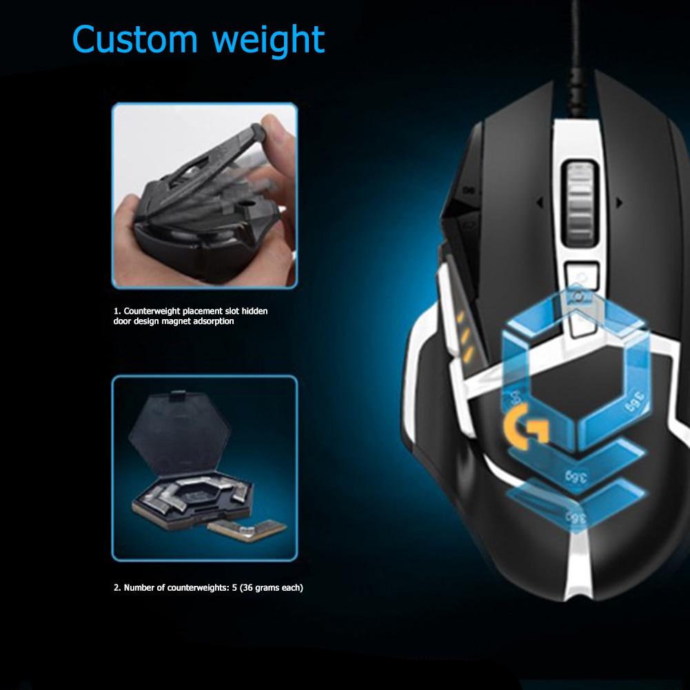 Logitech G502 Hero Master Gaming Mouse Computer Ergonomic Mouse Full line Upgrade Hero Engine 16000DPI RGB PC Gmae Accessories enlarge