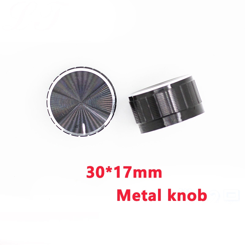 30x17mm WH148 potentiometer knob EC11 Encoder audio button switch cap, Aluminum Metal Knobs Black Knurled Shaft 6mm potentiometer encoder knob high quality aluminum alloy knobs 15x16 5mm half shaft 6mm d type switch cap for 360 degrees module