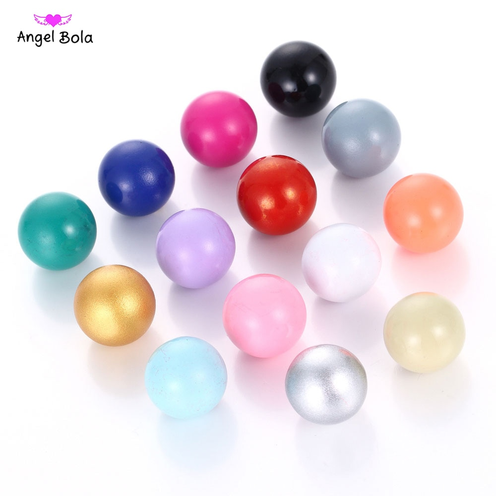 Bola de Ángel armonía llamador Multicolor 16mm Bola de música de sonido para colgantes mexicanos collar de maternidad regalos para bebé joyería P004