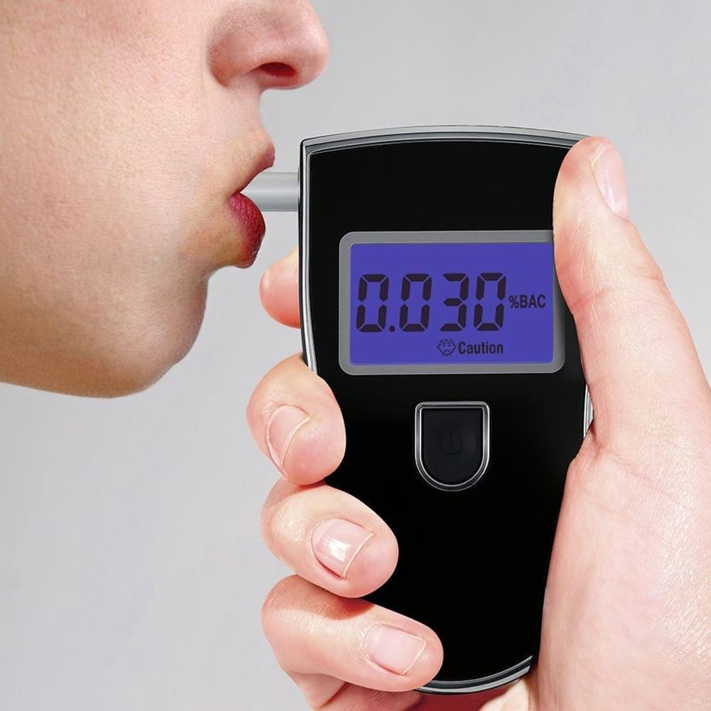 Analyseur Portable professionnel de Police, détecteur numérique LCD pratique, capteur d'alcoolémie, testeur de respiration avec 5 embouts buccaux jetables