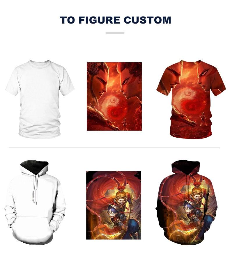 Camiseta personalizada 3D de moda, personalizada para el dibujo, muestra rápida, Camiseta de cuello redondo de Harajuku 3D para T-shirtS-5XL