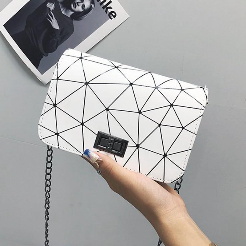 Bags for Women 2021 Fashionable Shoulder Bags Female Messenger Bag Handbag Chain Wild Crack Printing Wild Crossbody Bag