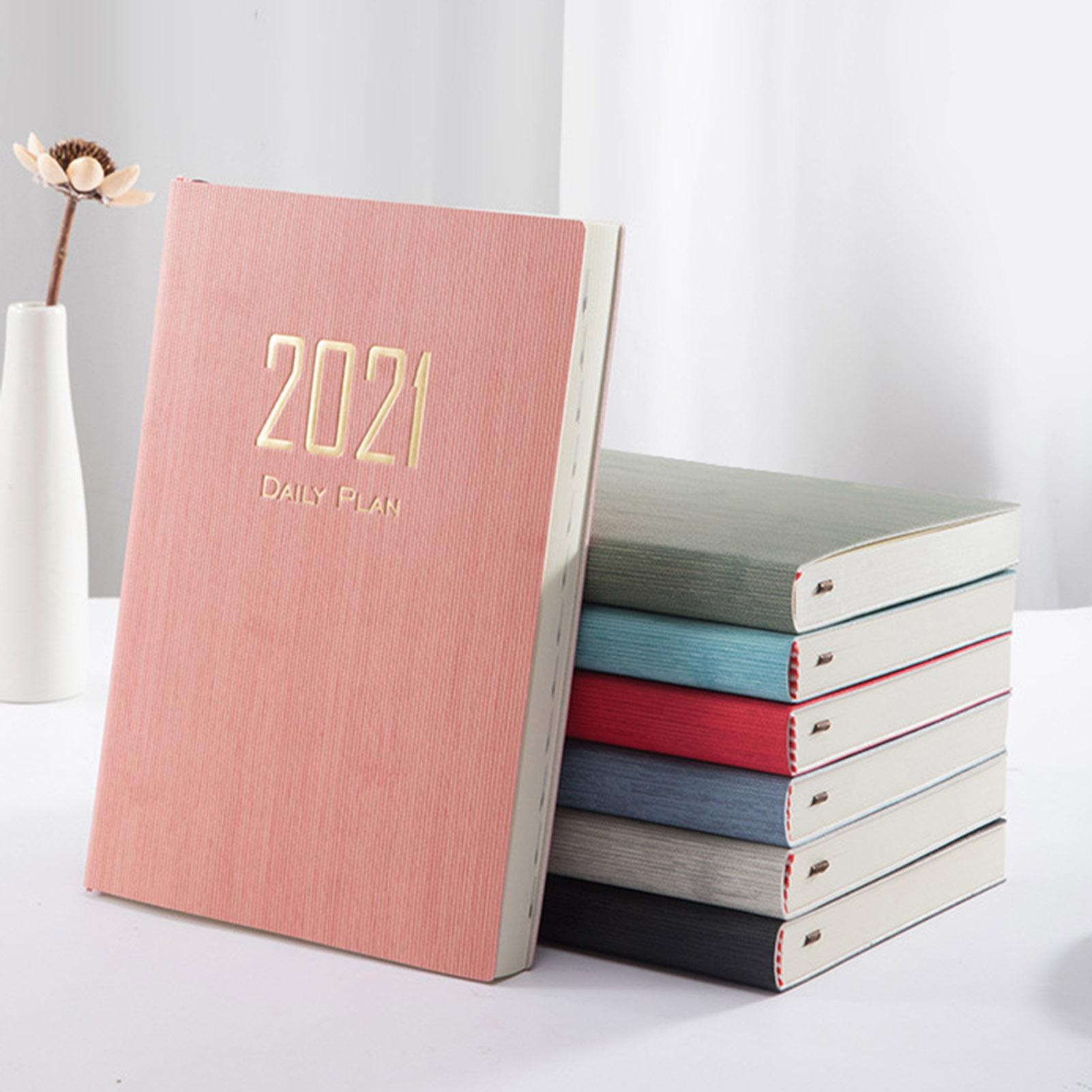 2021 Year A5 Notebook Planner Paper Cover A5 Paper Note Book DIY 365 Day Diary Schedule Planner Notebook Stationery Supplies