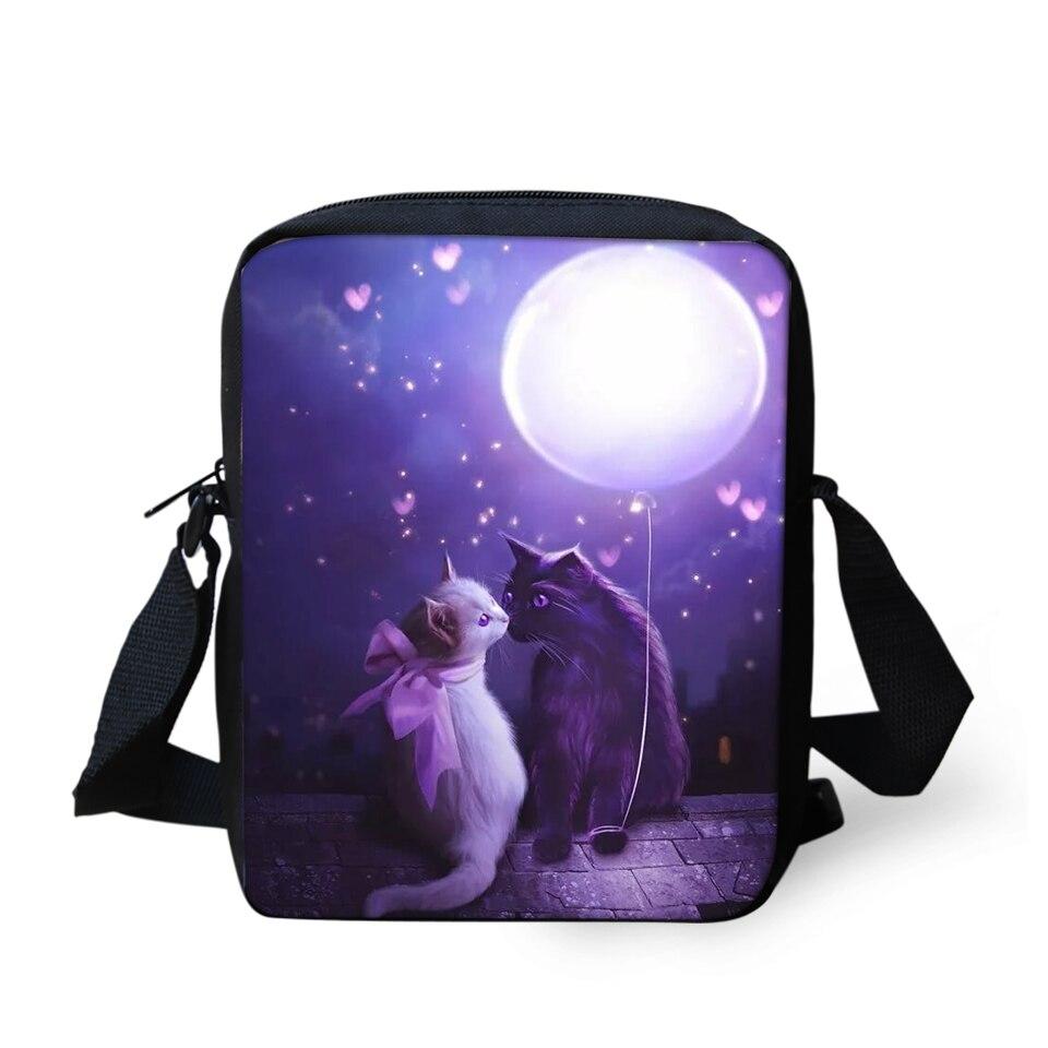 Сумки-мессенджеры для девушек с рисунком кошек, сумки через плечо с милыми животными, мини-клатчи для девушек