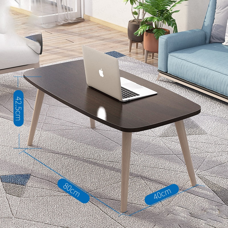Solid Wood Nordic Coffee Table Small Apartment Short Table Creative Coffee Table Easy To Install Living Room Modern Coffee Table