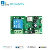 EWeLink     module dautomatisation de relais sans fil pour controle dacces  pour maison intelligente  DC 5V 12V 24V 32V ac 220V