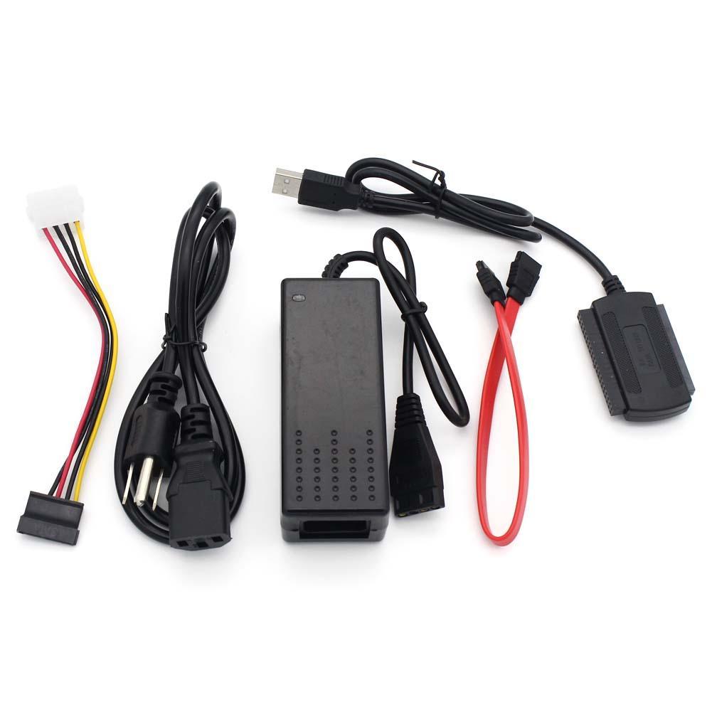 HD HDD Hard Drive Converter Cable USB 2.0 To IDE SATA ATA 2.5 3.5 Inch