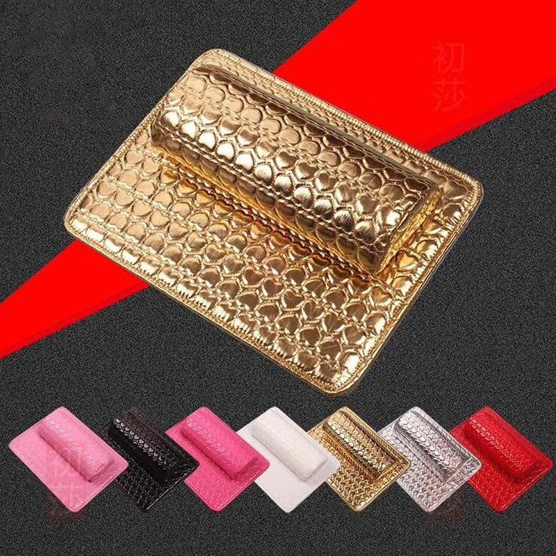 2 Pieces/Ser Soft Rectangle Hand Cushion Nail Art Manicure Care Salon Hand Rest Comfortable Cushion Pad Set Nail Art Tool