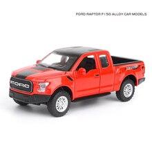 Heißer maßstab 132 räder diecast auto ORV Ford F150 Raptor metall modell mit licht und sound pull back fahrzeug legierung spielzeug sammlung