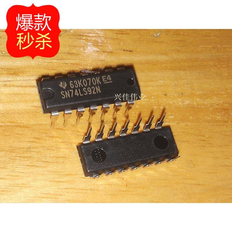 10PCS New original authentic 74LS92 SN74LS92N HD74LS92P DIP-14 logic IC chip