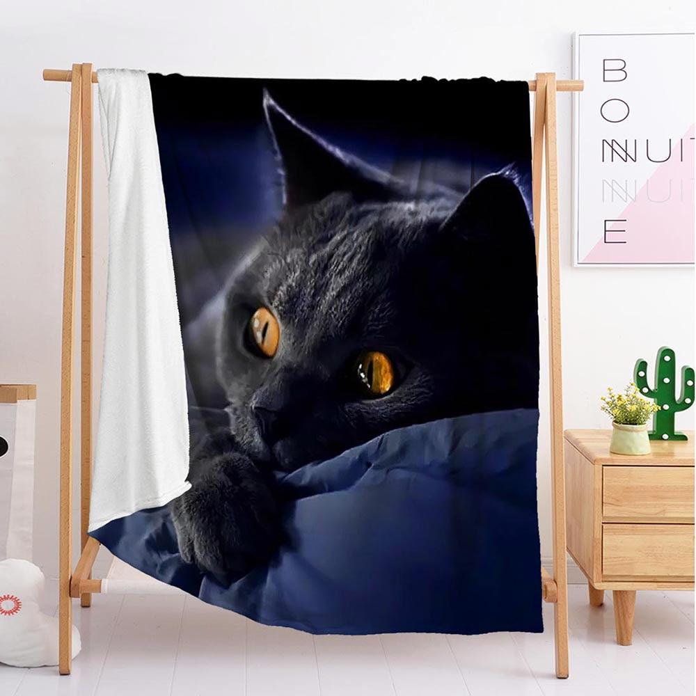 بطانية قطة مخصصة ، فراش نوم ، صوف ، مقاس كبير وصغير ، 2020