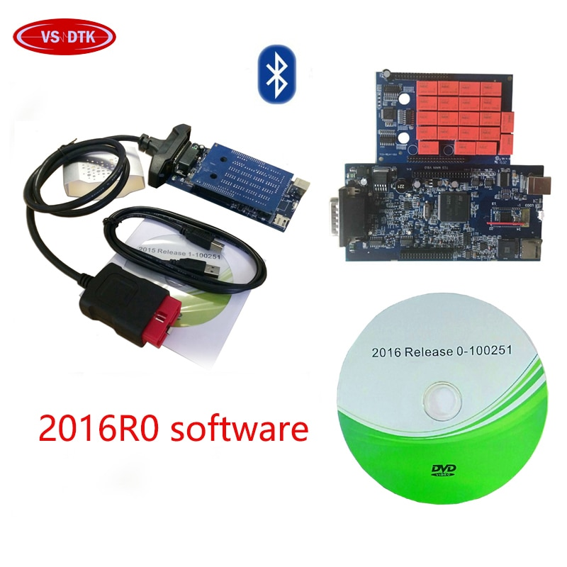 2019 nuevo escáner vci OBD OBD2 para la herramienta de diagnóstico de coche de Software Keygen delphis VD DS 150E CDP 2015R3/2016,0 pro Bluetooth USB