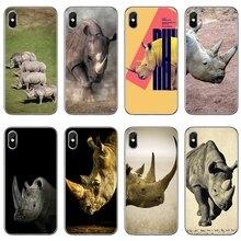 For Samsung Galaxy S10 Lite S9 S8 S7 S6 edge Plus S5 S4 Note 9 8 5 4 mini cover case Rhinoceros World Rhino Day
