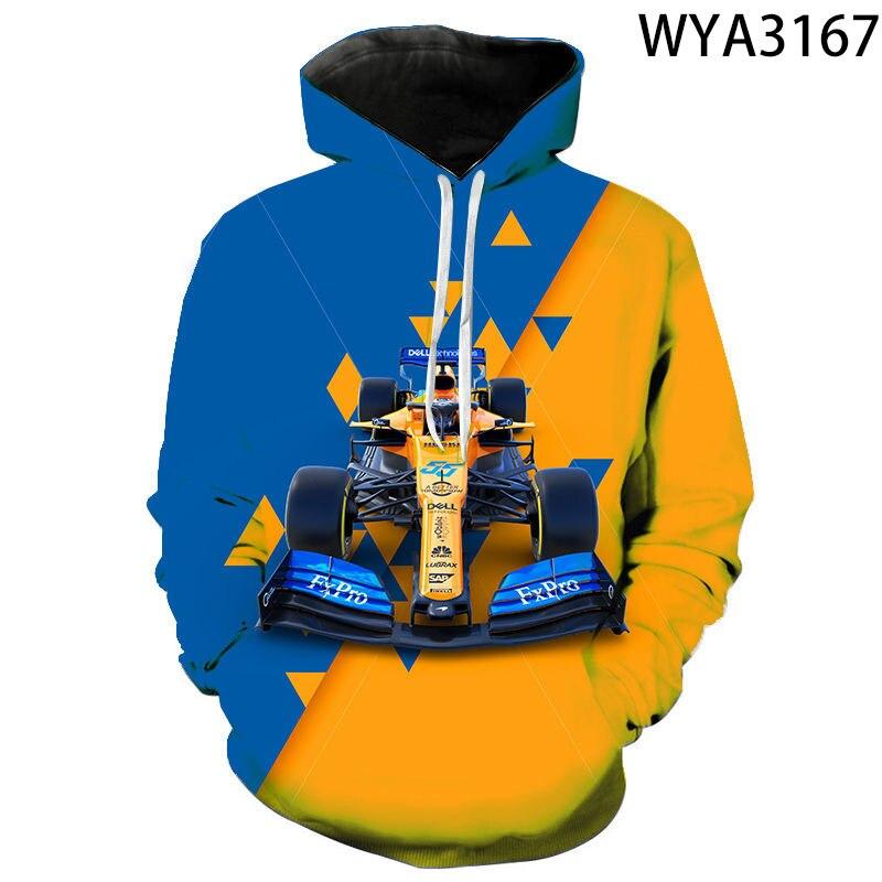2020 novos homens mulheres crianças fórmula 1 hoodies moda casual 3d impresso pulôver sweatshirts menino menina crianças jaqueta casual