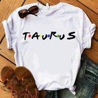 twelve constellations zodiac sign tshirt women short sleeve o neck t shirt soft breathable casual tshirtdrop ship