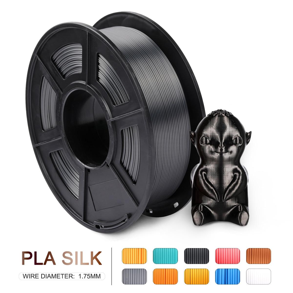 3D Printer Silk Filament classical Black FDM support material nylon Polymer 3D Print material 1.75mm Plastic stability uv resin