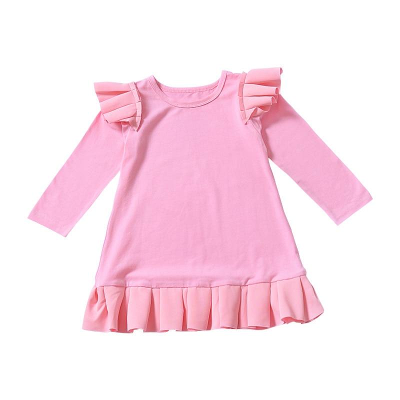 Vestido plisado para niñas 2020 nuevo vestido con manga con volantes niño niña ropa de verano elegante disfraz de princesa