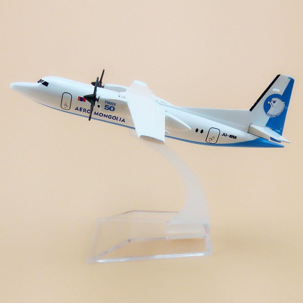 16cm aleación Metal Air Aero Mongolia Fokker 50 F50 F-50 aerolíneas Airways modelo de avión modelo w soporte de avión regalo