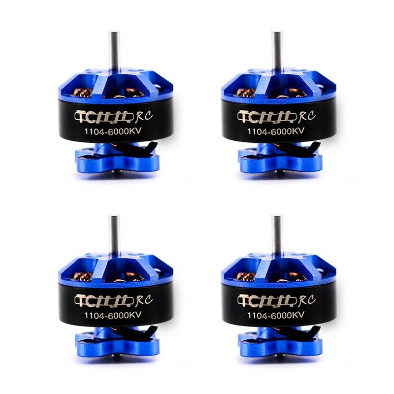 Tcmmrc fpv brushless motor rc 4 pces 1104 6000kv brushless 9mm espaçamento para rc fpv corrida zangão quadcopter quadro