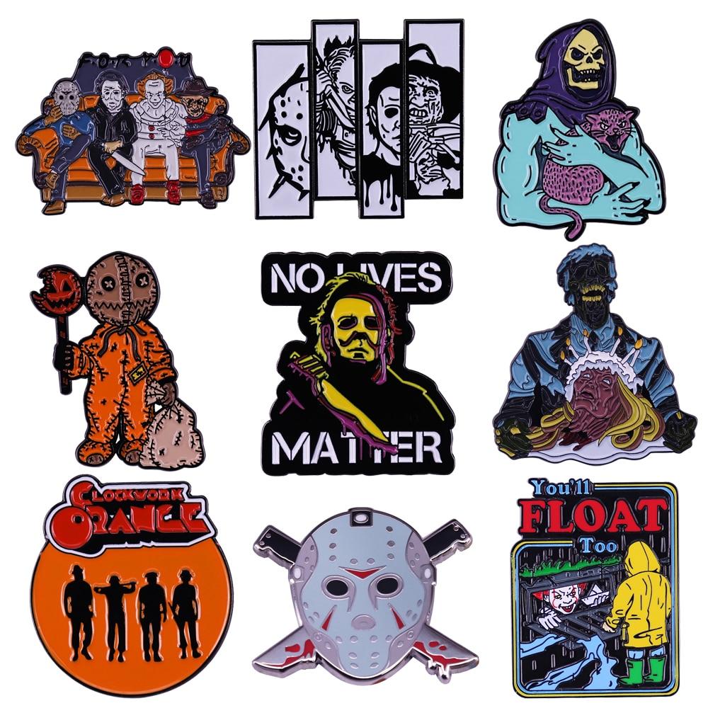 DZ1569 коллекция фильмов ужасов эмалированная заколка для лацкана значки заколки шляпы одежда рюкзак украшение Ювелирные изделия подарки для...