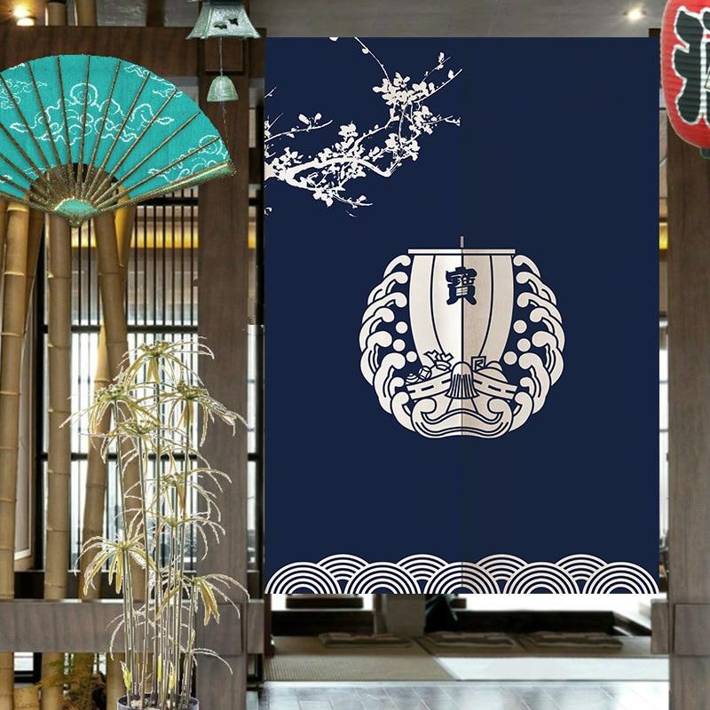 Cortina de puerta para dormitorio de estilo japonés, sala de estar, cocina, Media Cortina, Noren Sushi, restaurante, decoración, cortina colgante de entrada