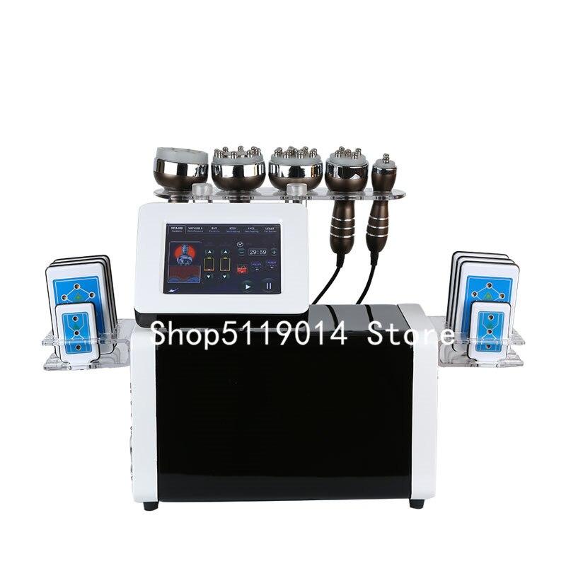 2020 profesional 6 en 1 40khz cavitación multipolar rf y diodo láser máquina de belleza
