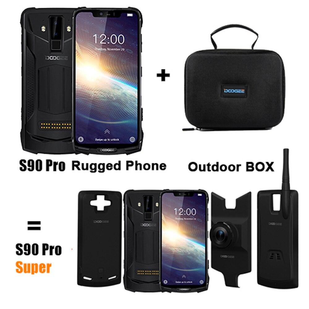 Doogee s90 pro modular áspero telefone móvel helio p70 octa núcleo 6 gb 128 gb 6.18 polegada display 12v2a 5050 mah android 9.0 telefone nfc