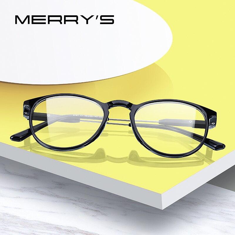 Gafas MERRYS de diseño Retro ovaladas para mujer, montura de gafas de moda para miopía, gafas ópticas recetadas S2181