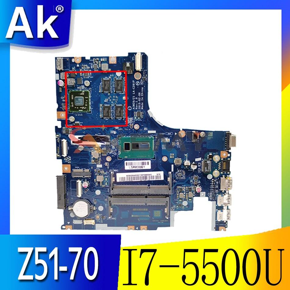 اللوحة المحمول لينوفو LA-C281P ينوفو Z51-70 I7-5500U R7 M360 MMainboard 5B20J23786 SR23W 216-0864018