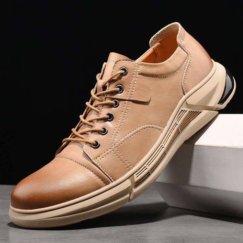 Мужские туфли; Мужские лоферы из натуральной кожи, дышащие мужские туфли для повседневной носки; Мужские мокасины на свадеб Вечерние обувь, ...