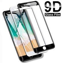 9D Full Cover กระจกนิรภัยสำหรับ iPhone 8 7 6 6S Plus 5 5s SE 2020ป้องกันหน้าจอบน iPhone 11 Pro XS Max X XR ป้องกันฟิล์ม