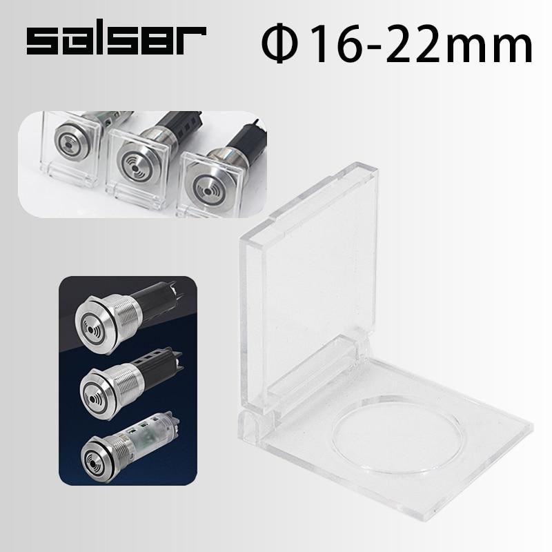 Plástico protetor transparente capa para 16/19/22mm diy metal buzzer indicador led flash luz botão interruptor de um alarme contra roubo