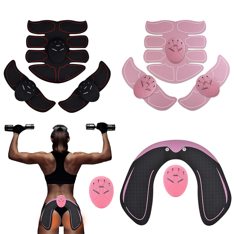 Smart EMS Hips Trainer Electric Muscle Stimulator Wireless Buttocks Abdominal ABS Stimulator Fitness