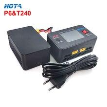 HOTA P6 & T240 세트 듀얼 스마트 배터리 밸런스 충전기 AC240W DC600W 15A Lipo LiIon NiMH 배터리 (유형 C 출력 포함)