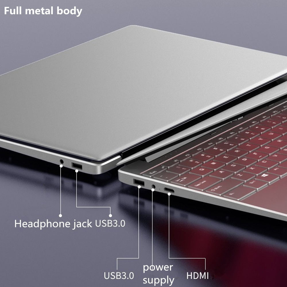 Max DDR4 RAM 32GB  2TB SSD Ultrabook gaming Laptop Computer with 2.4G/5.0G Wifi  Bluetooth Intel Celeron 5205U windows laptop