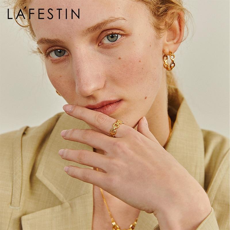LA FESTIN 2021New Designer fashion ring female niche design ring retro personality ladies trend jewelry decoration ins tide