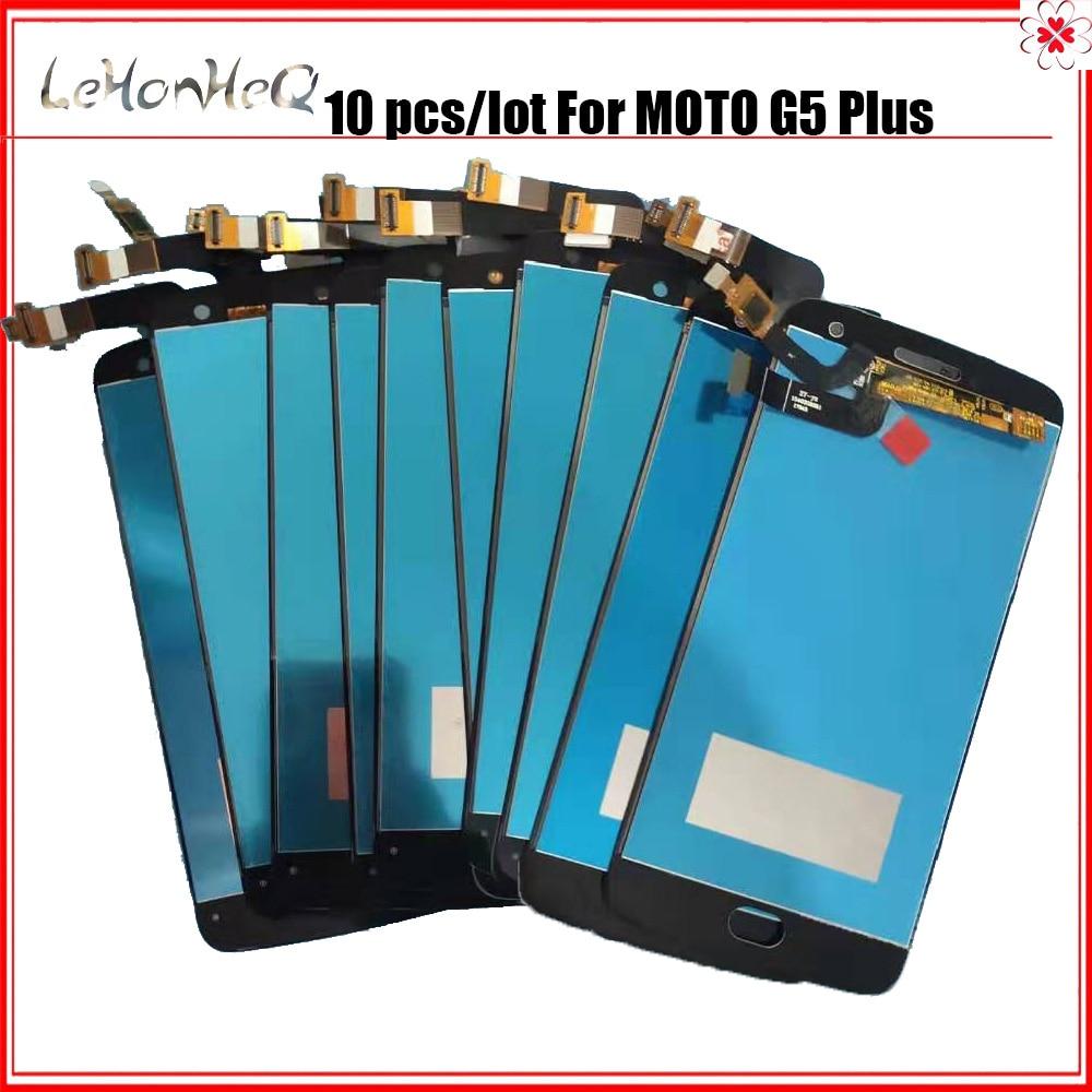 10 unid/lote LCD para Motorola Moto G5 Plus de pantalla LCD XT1685 XT1683 LCD T pantalla digitalizador piezas de repuesto